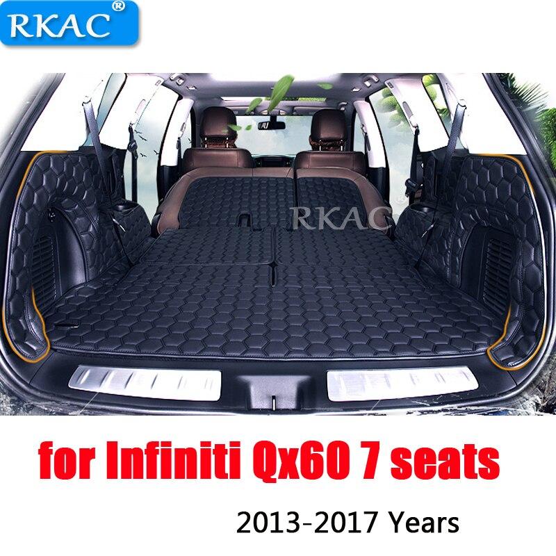 RKAC 4 couleurs personnalisé fit pu cuir voiture plein coffre tapis tapis de chargement pour Infiniti Qx60 7 sièges cargo liner imperméable bonne qualité