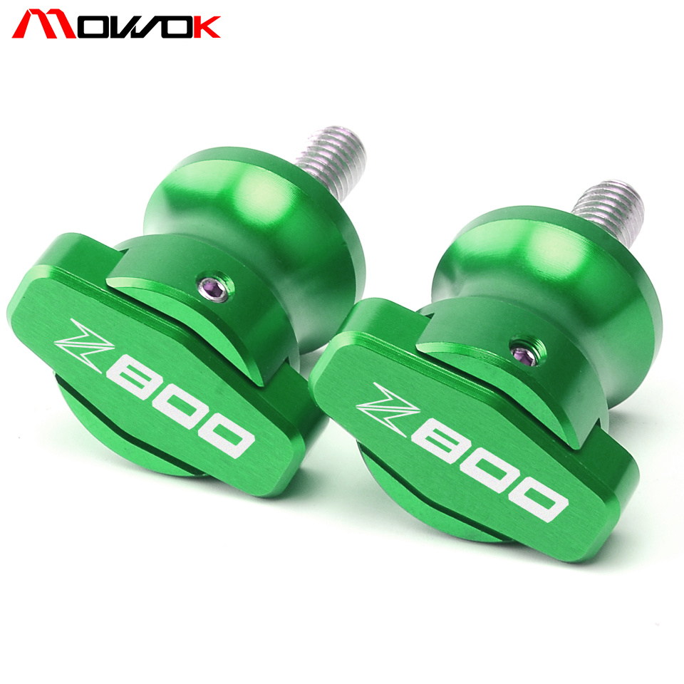 M8 Moto CNC Bras Oscillant Bobines Sliders Bobines Pour Kawasaki z800 Z 800 2004-2010 2011 2012 2013 2014 2015 2016 2017