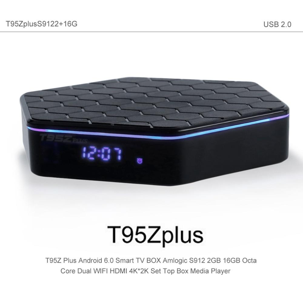 ФОТО New T95Z PLUS Android TV Box Amlogic S912 Octa Core 2GB 16GB Android 6.0 Smart TV Box 2.4G/5GHz Wifi Bluetooth Kodi IPTV Box