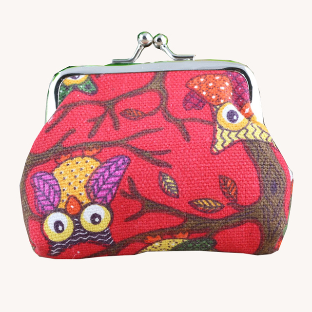 Kids Coin Purses Girls Purse Canvas Mini Coin Purse Children Best Design Double Printing Owl Female Purses With Best Pest