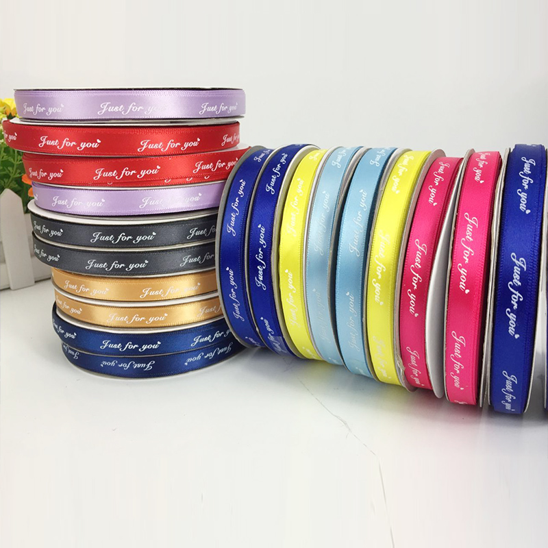 100yards roll 1cm ribbon tag cloth label custom logo printed clothing tags in Ribbons from Home Garden