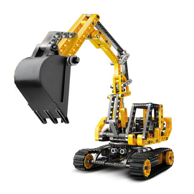 3359 Decool Technic City Series Excavator Model Building Blocks Classic Enlighten DIY Figure Toys For Children Compatible Legoe 10639 bela city explorers volcano crawler model building blocks classic enlighten diy figure toys for children compatible legoe