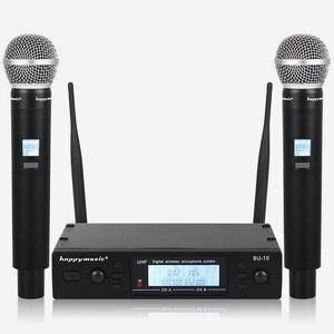 Image 4 - Nuovo di Alta Qualità UHF Professionale SU 10 Doppio Microfono Senza Fili Sistema di spettacoli teatrali a due microfono senza fili
