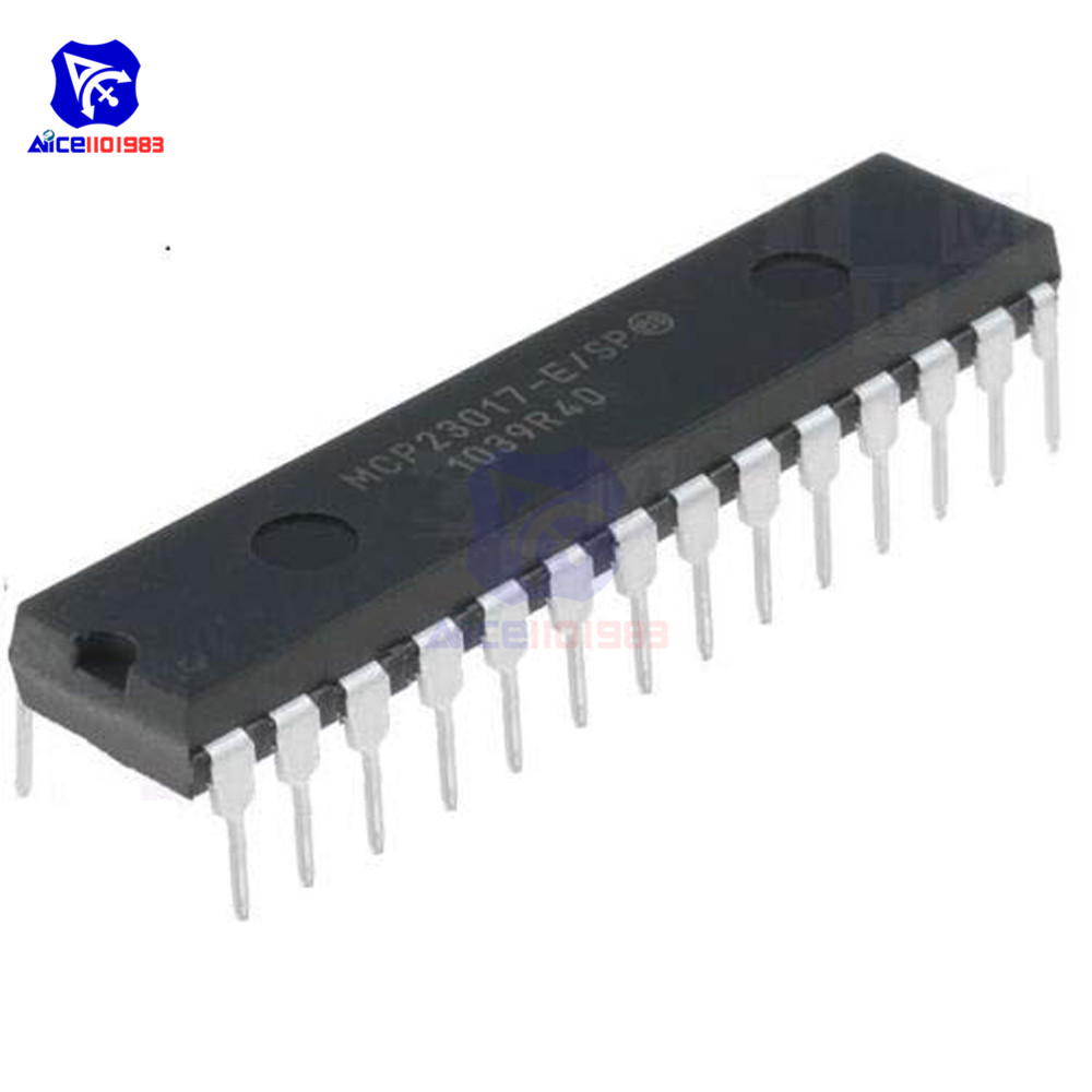 IC Chips MCP23017-E/SP DIP-28 MCP23017 16-Bit I/O Expander with I2C Interface IC Original Integrated CircuitsIC Chips MCP23017-E/SP DIP-28 MCP23017 16-Bit I/O Expander with I2C Interface IC Original Integrated Circuits