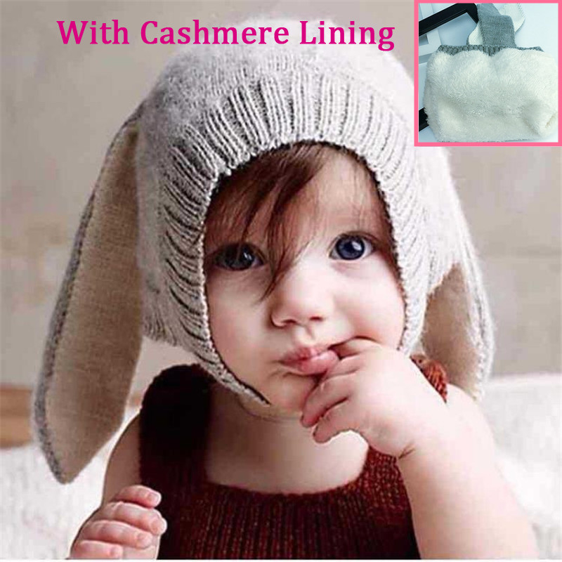 Christmas New Kids Winter Baby Rabbit Ears Knitted Hat Infant Toddler Cap For Children Girls Boys Accessories Photography Props 2015 new arrive super league christmas outfit pajamas for boys kids children suit st 004