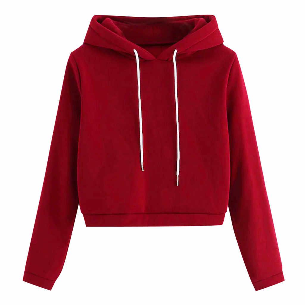 Chamsgend vermelho sweatshirts feminino hoodies de manga longa harajuku moda outono pulôver com capuz estilo coreano breve sportwear f722