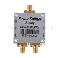 New 2 Way SMA Power Splitter 1500mhz 8000MHz SMA Female Power Divider Signal Cable Splitter Female