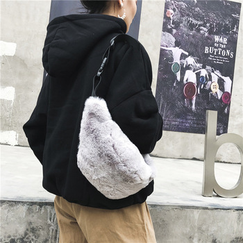 Faux Rabbit Fur Women Men Fanny Waist Bag Bum Bags Luxury Brand Designer Female Shopping Travel Package sac tour de taille belt