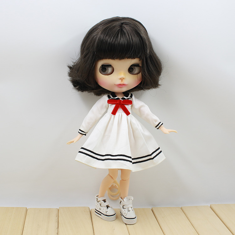 T02-X069 Blyth Doll clothes 1/6 dolls Accessories Joint body handmade girl Sailor clothes student dress