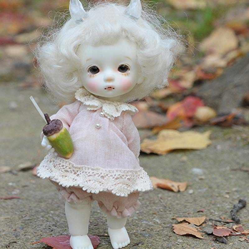 New Arrival 1/8 BJD Doll Fashion LOVELY Cute CHIKA Resin Doll With Eyes For Baby Girl Birthday Chrismas Gift Present