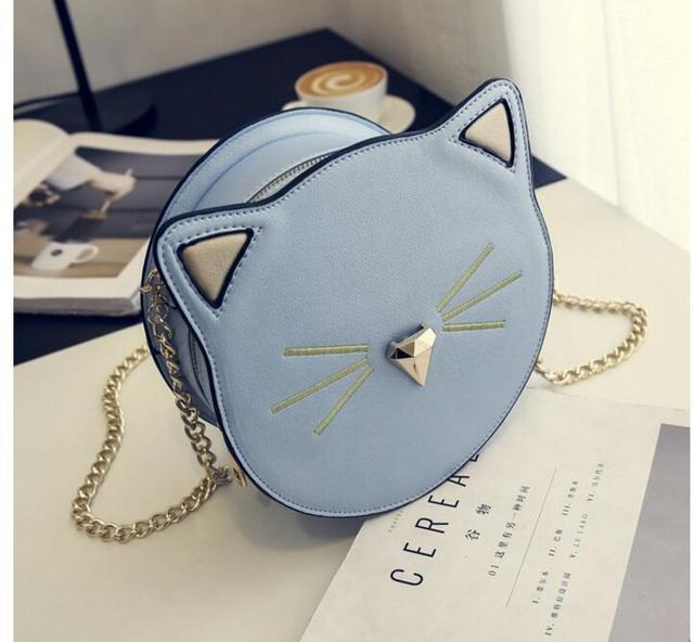 4bd6a4b547 2019 Good Quality Female Mini Messenger bag Circle Crossbody Bags Cat Bag  Women s Handbag Round Shoulder Bags