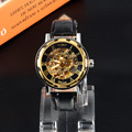 Skeleton Roman Digital Automatic Mechanical Men'S Sport Watch Leather Strap