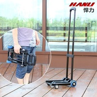 Defensive mini luggage cart folding portable shopping cart drawbar carts hand pull to buy a car with travel