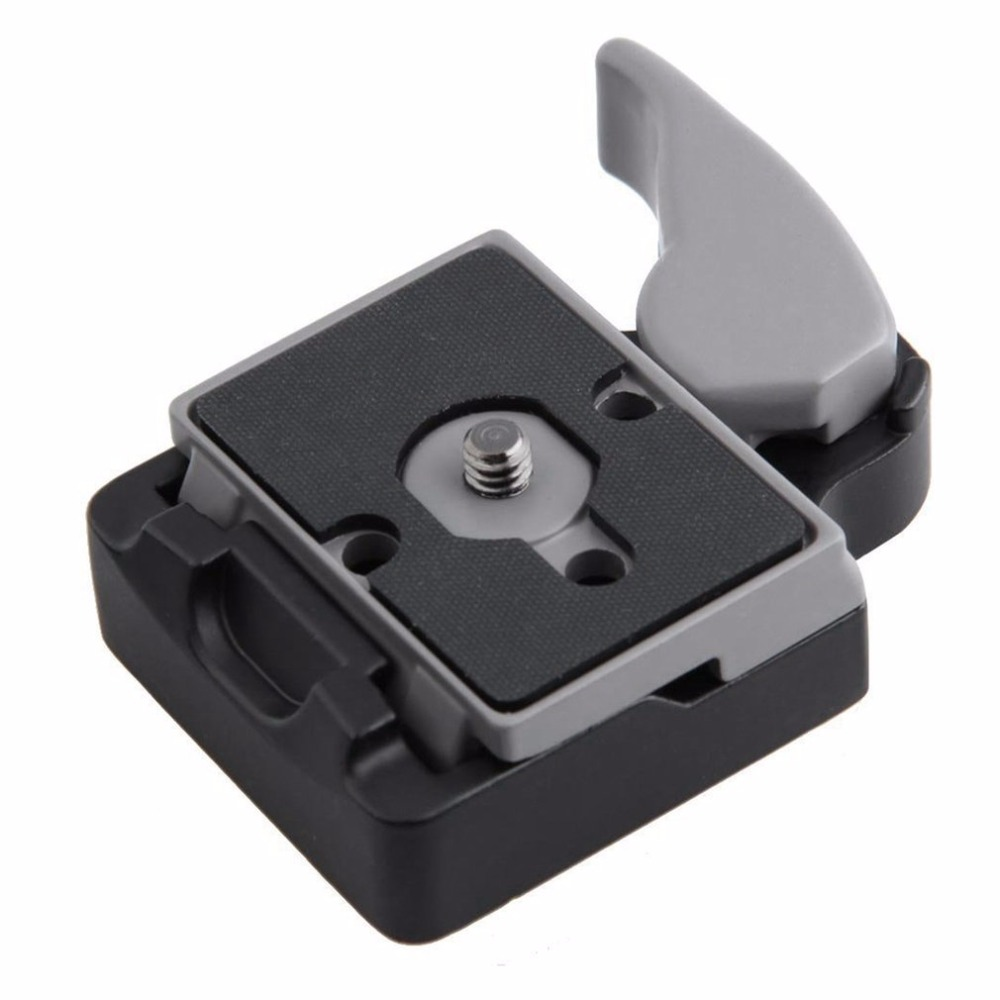 Camera 323 Quick Release Clamp Adapter for Manfrotto 200PL-14 Compat Plate 496RC 498RC2 804RC2 Aluminum Alloy 3/8 1/4