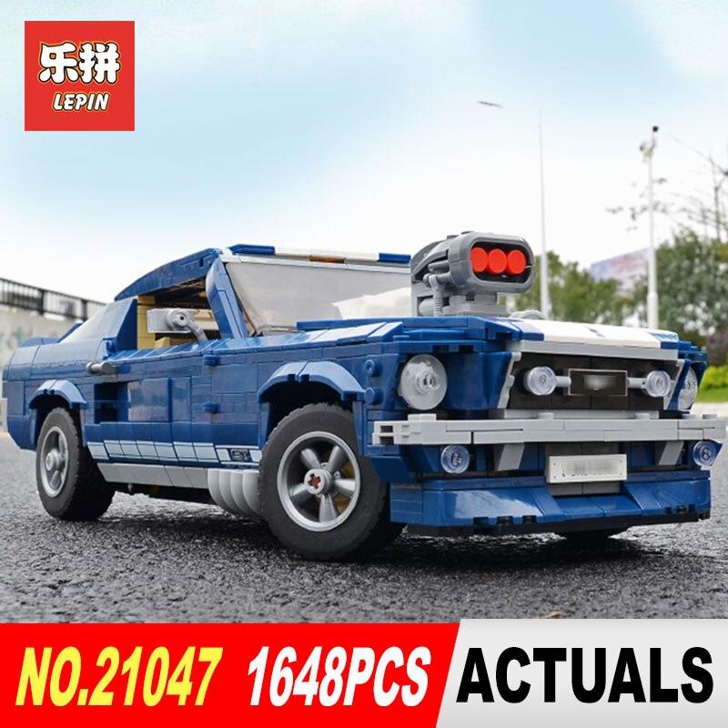Lepin 21047 Créateur Série Ford Super voiture de course Mustang compatible avec 10265 Set blocs de construction Briques Jouets Cadeaux D'anniversaire