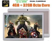 DHL Libre 10 pulgadas MTK8752 tablet pc Octa Core 3G 4G LTE Android 6.0 4 GB RAM 64 GB ROM Tarjeta Dual SIM IPS 1920*1200 tabletas 10.1