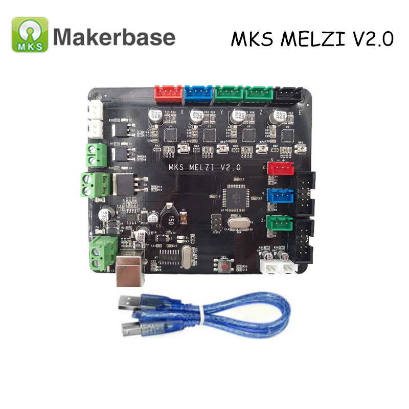 Prusa I3 3D Printer Controller Board MKS MELZI V2.0 Compatible with Marlin For Prusa I3 melzi 1284p