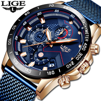 LIGE Official Store New Mens Watches Top Brand Luxury Waterproof Fashion WristWatch Quartz Clock Watch For Men Sport Chronograph