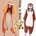 Free Shipping Unisex Animal Brown Orange Squirrel Onesie Cosplay Costume Pajamas Adult Pyjamas Party For Men Women