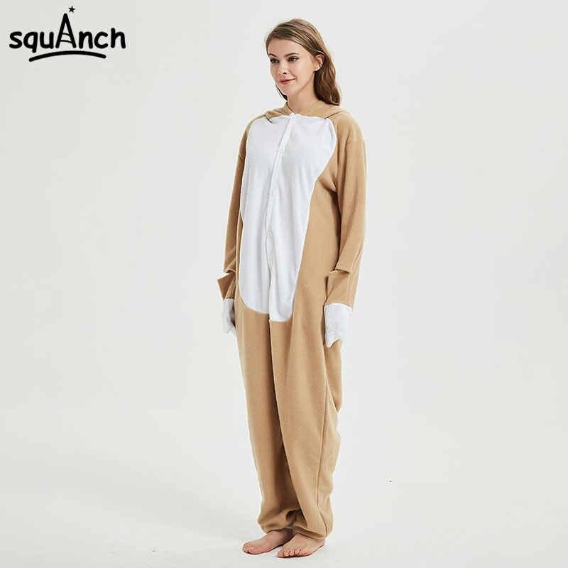 c7e78a7825b0 ... Animal Onesie Adult Sloth Pajamas Kigurumi Cartoon Funny Jumpsuit Women  Overalls Sleepwear Winter Outfit Polar Fleece ...