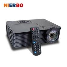 NIERBO 6000 Lúmenes HD Proyector de Cine En Casa Proyector 3D DLP Proyector de Tiro Corto Proyector de Encuentro Durante el Día Al Aire Libre 240 W Bombilla HDMI