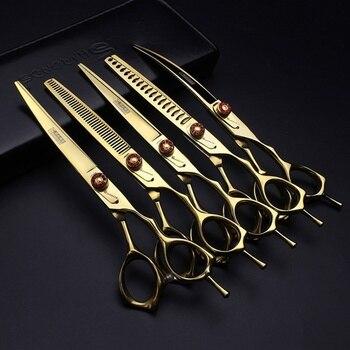 7 inch Professional pet scissors Beauty scissors Animal scissors thinning scissors set Cats Hair Cutting scissors фото