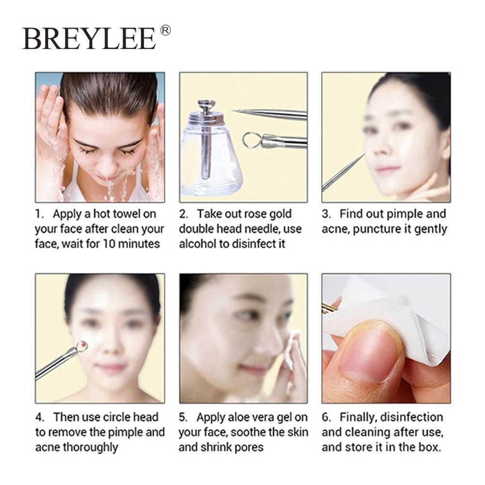 BREYLEE אקנה הסרת מחט כלים חטט הפגם Remover נקבובית ניקוי פנים שחור מסכת טיפוח עור פנים חטט Extractor 1 pcs