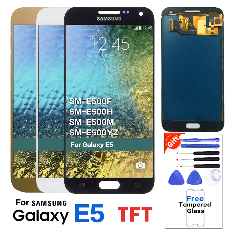 TFT <font><b>LCD</b></font> für SAMSUNG Galaxy E5 <font><b>LCD</b></font> Display Touch Screen Für Galaxy E5 <font><b>E500</b></font> E500M E500F E500H <font><b>LCD</b></font> Display Helligkeit kann einstellen image