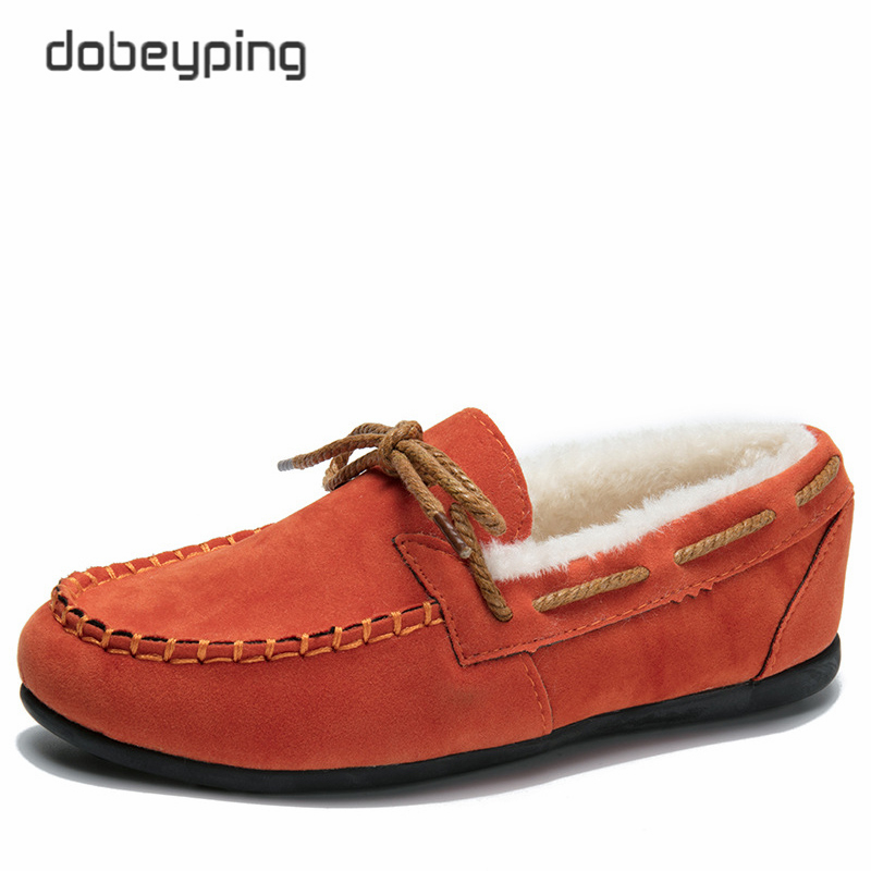 2017 Plush Winter Women Shoes Keep Warm Moccasins Shoes Woman Slip On Female Flats Fur Female Loafers Flock Footwear Size 35-40 women s platform flats loafers genuine leather slip on brogues shoes for women female footwear brand designer moccasins calzados