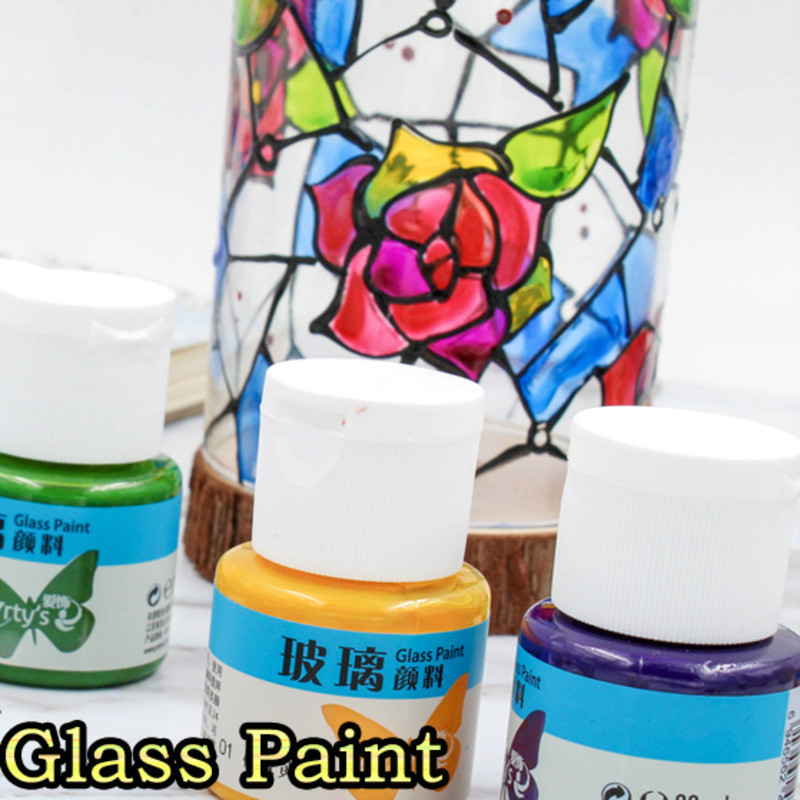 Glass Pigment Waterproof Anti-fading Hand-painted Dye Transparent Natural Dry-painted Diy Watercolor Art Supplies 25ml/bottle