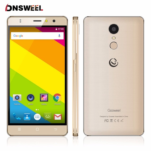 Free Case Gooweel M17 4G Smartphone Fingerprint ID MTK6737 Quad core 64bit 5.5inch IPS Android 6.0 mobile Cell phone 16GB 8MP
