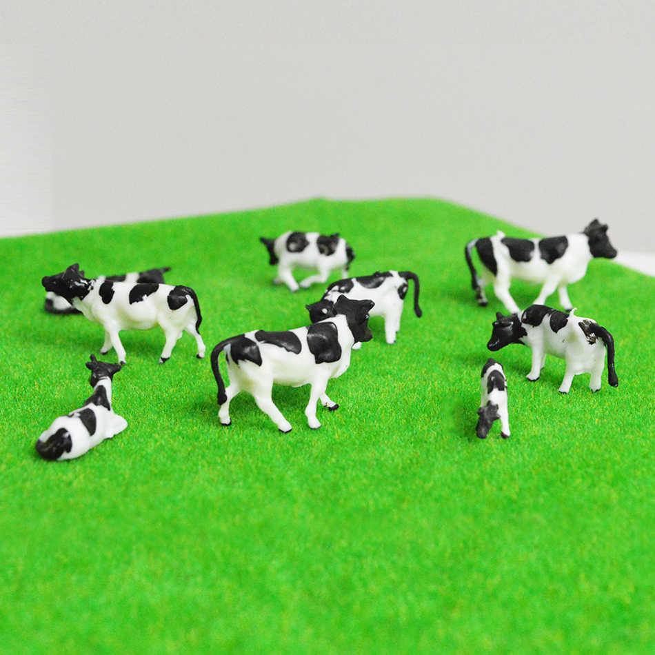 30 шт 1: 87 масштаб модель коровы модель поезда HO Масштаб Окрашенные Животные фермы для модели железной дороги черный и белый цвет