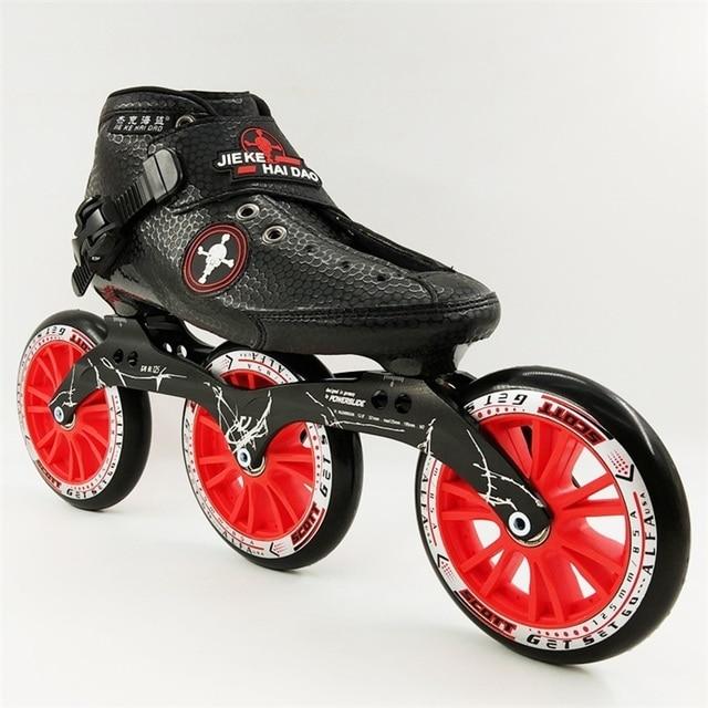 Patines en línea zapatos de patinaje de velocidad profesional niño inline  patines de carreras carbono adultos 92b399e107e