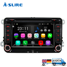A-Sure Android 6.0 In Car Navigation 2 Din GPS DVD Player for VW PASSAT B6 Jetta Polo Sharan TIGUAN CADDY GOLF Transport T5