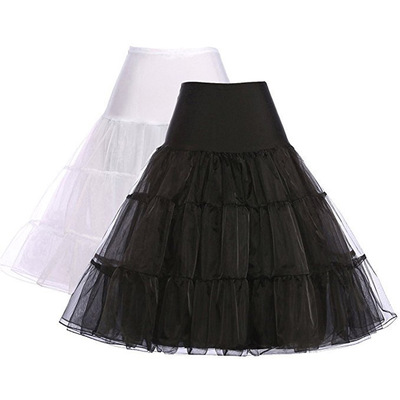 Black White Red Royal Blue Organza Petticoats For Wedding Dress Crinoline Underskirt 2019 Women