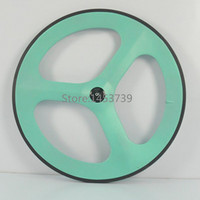 Road Track Carbon 3 Spoke Wheel 70mm Clincher Carbon Wheel With Free Shipping Carbon Tri Spoke