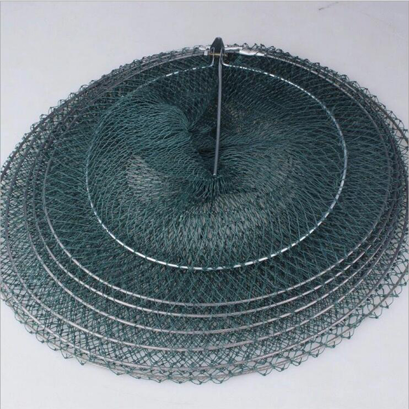 Hot sale 3 4 5 layer portable fishing net fish folding for Fish netting for sale