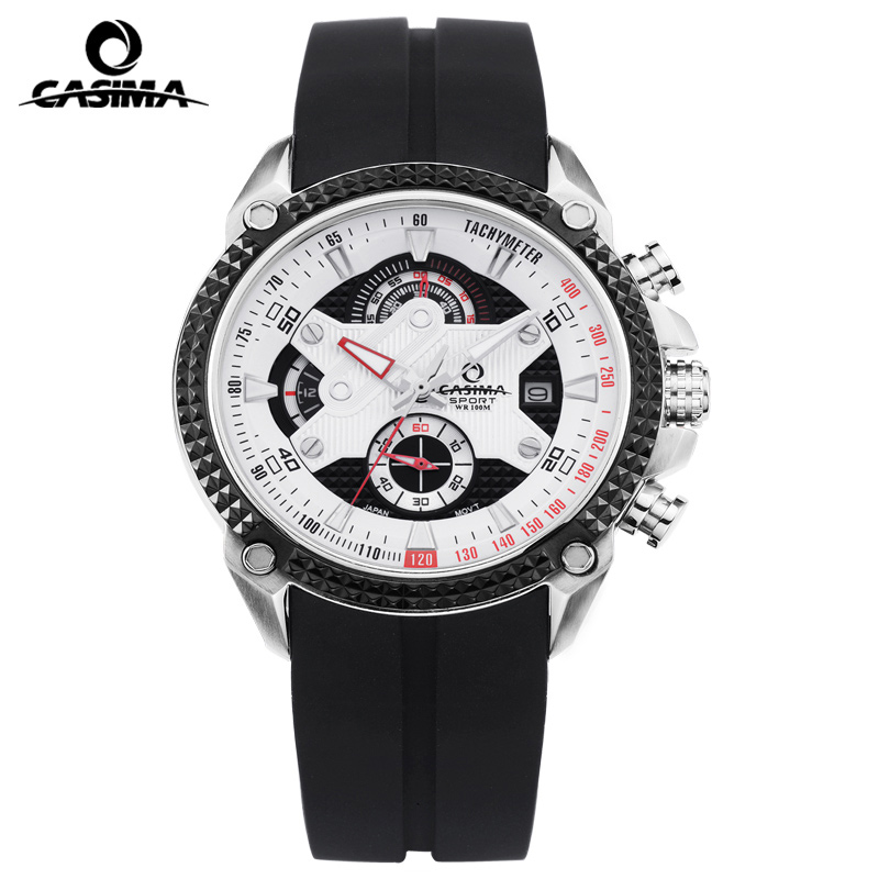 Luxury Brand CASIMA Men Sport Quartz Watches reloj hombre Silicone Band luminous Waterproof 100m Watch Men erkek kol saati jetem прогулочная коляска carbon jetem