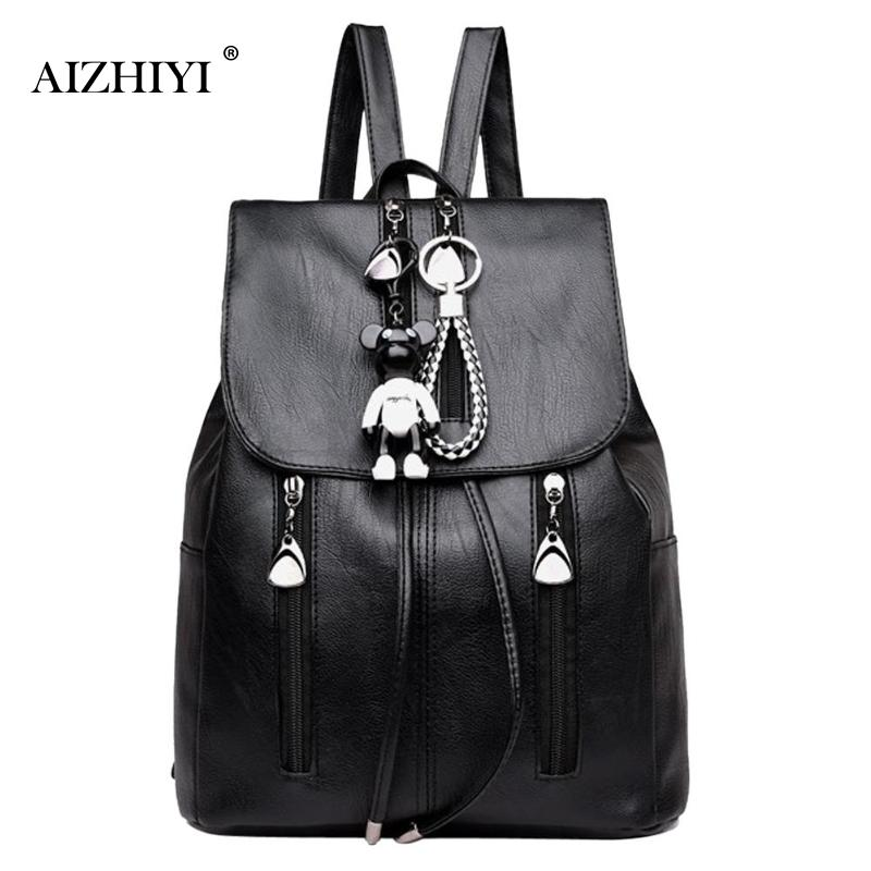все цены на Women Elegant Backpack Drawstring Backpack Girl Lady School Soft PU Leather Contrast Backpacks Casual Solid Rucksack Black