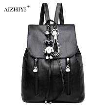 8ca2cb1eb8dff Women Elegant Backpack Drawstring Backpack Girl Lady School Soft PU Leather  Contrast Backpacks Casual Solid Rucksack Black