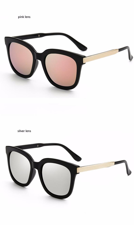 High Quality Couple Square Sunglasses Women Brand Designer Vintage Retro sun glasses for women Men Sunglass Mirror Lunette Femme (12)