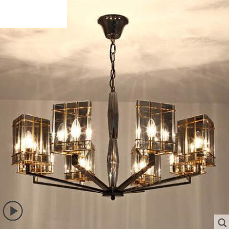 Postmodern living room chandelier Nordic minimalist luxury crystal bedroom neo-classical creative restaurant art lamps led lamps nordic modern minimalist living room crystal restaurant chandelier crystal creative led art bar warm bedroom lamps led fixture