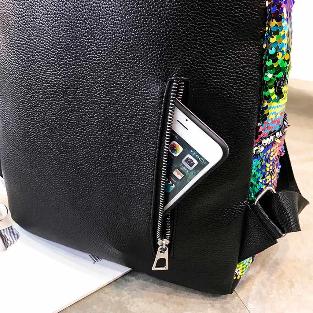 0131f21a99 xiniu Women's Glitter Sequins Backpack New Teenage Girls Fashion Bling  Rucksack Students Cute Pendant School Bag Mochilas #2