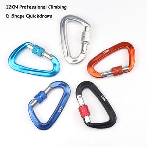 12KN Climbing Carabiner Outdoor Climbing Equipment Professional Climbing Buckle Lock