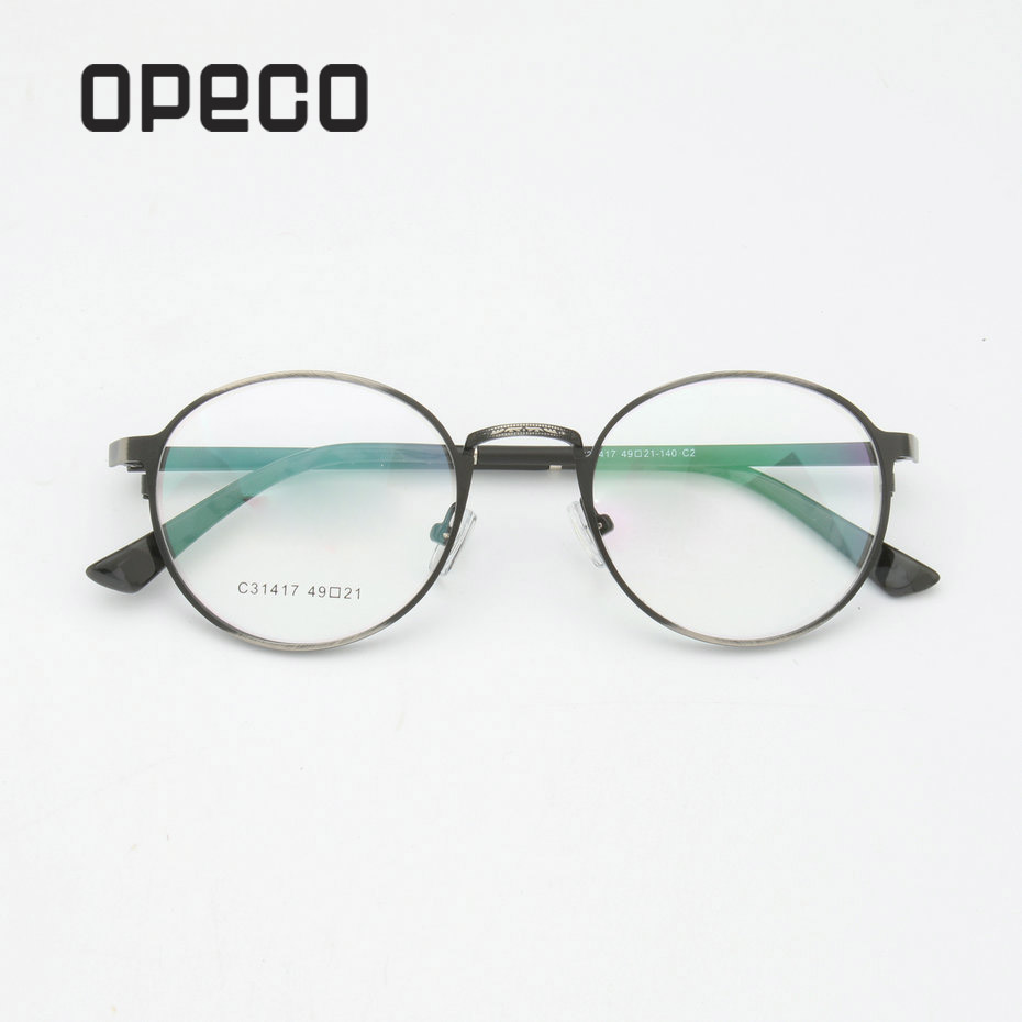 Opeco Eyewear Eyeglasses Recipe Prescription Frame Spectacles Lenses Classical Metal