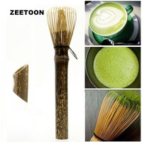 Japanese Style Vintage Natural Matcha Tea Whisk Purple Bamboo 32 Kung Fu Tea Set Long Handle Brush Green Tea Tool Accessories
