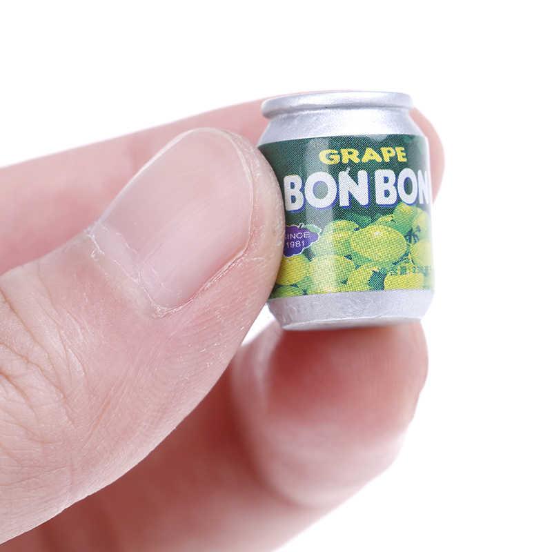 4 pçs bonito mini latas 1:12 miniatura casa de bonecas móveis bebida latas decorações diy boneca casa acessórios cozinha dropship