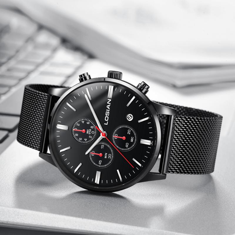 saat kol gents watches relogio masculino Chronograph date slim watch montre homme marque de luxe montres hommes luxes de marque