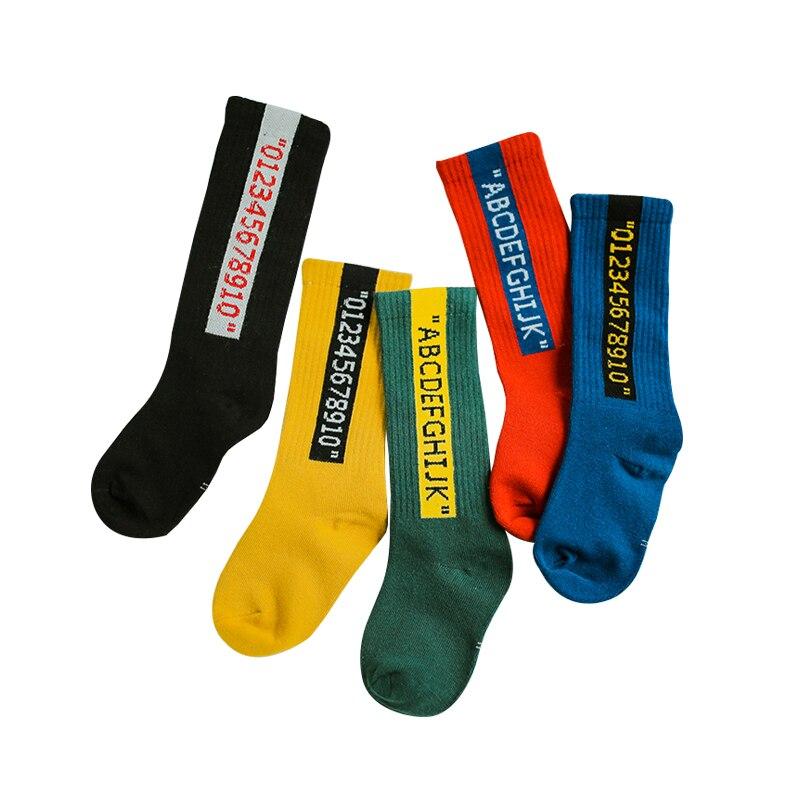 NEW ARRIVAL! FALL/WINTER Kids Girls Pure Cotton Socks Short Toddle Knee High Socks For Girl Boy Child Long Socks