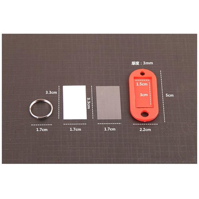 10 PCS Plastic Custom Split Ring ID Key Tags Labels Key Chains Key Rings Numbered Name Baggage Luggage Tags 5